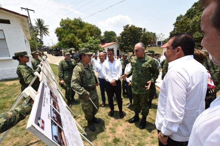 Constatan Gobierno de Oaxaca y SEDENA avances de reconstrucción de viviendas en Jamiltepec (2)